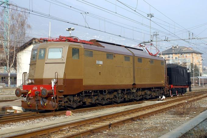 Locomotiva Elettrica Gruppo E.636 Unità 164
