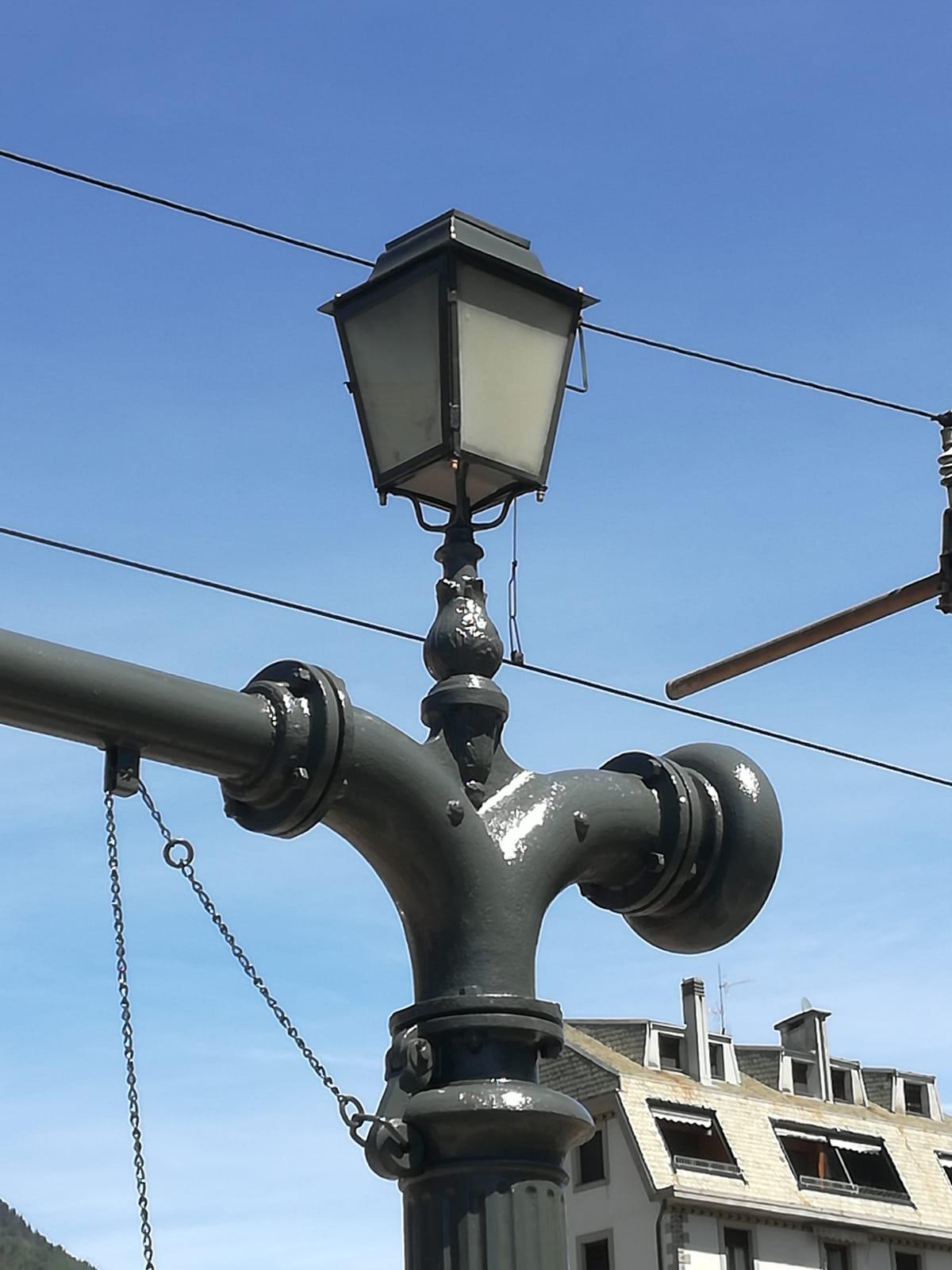 Dettaglio della lampada dopo il resaturo